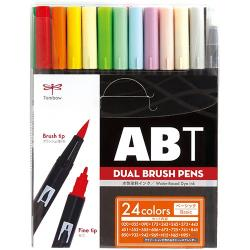 Tombow Dual Brush Pen 24 Color...