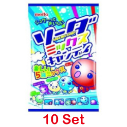 Meito Soda Mix Candy 90g 【10 S...